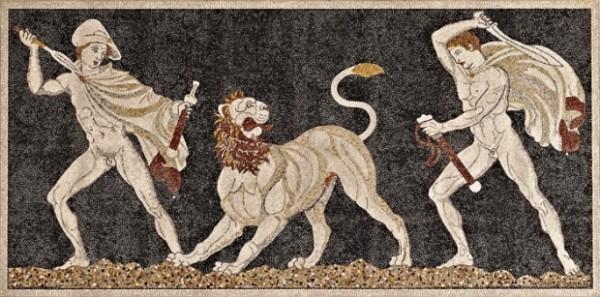Otras técnicas básicas en arte Mosaico-della-caccia-da-Pella-c.325-a.C.-600x297