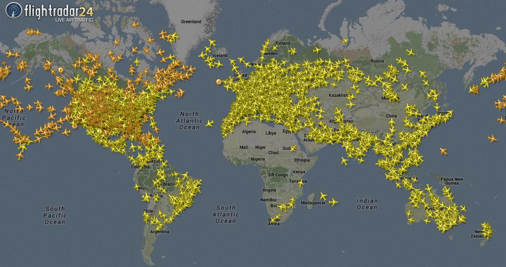 Flightradar24: Monitoramento do tráfego aéreo em tempo real Coverage
