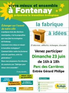 """Quelle vision pour notre ville ? """"Fabrique à idées"""" le 23 juin 16h au Parc des Carrières Fabrique23juin-223x300"""