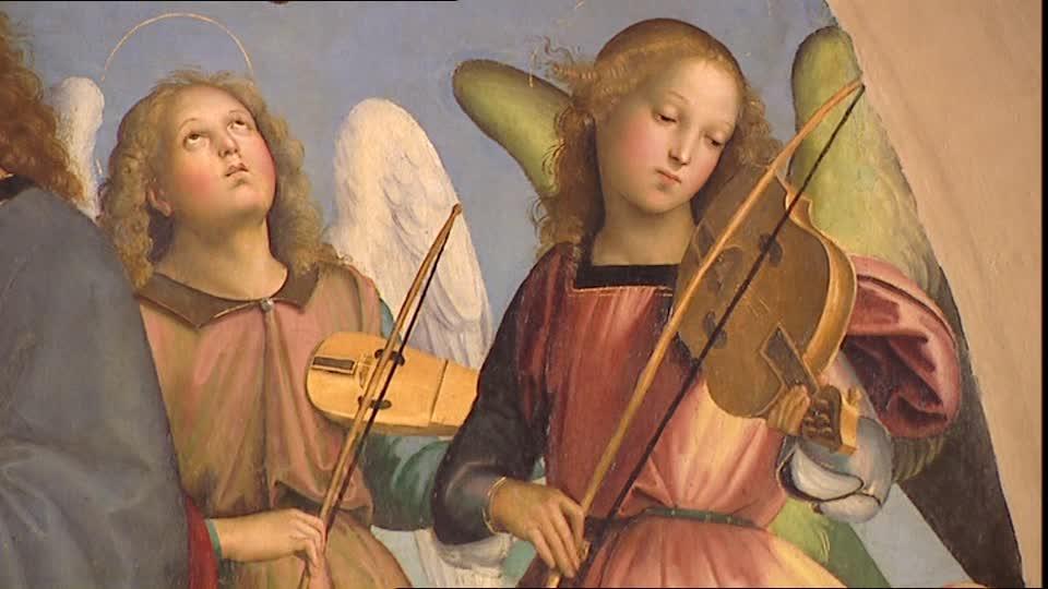 Le Symbolisme Chrétien - 19 eme siècle - Angleterre ( Images) 706757982-couronnement-de-marie-pinacotheque-du-vatican-ange-rafael