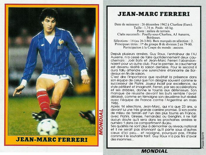 ¿Cuánto mide Didier Deschamps? - Real height FicheJoueur-JeanMarcFerreri