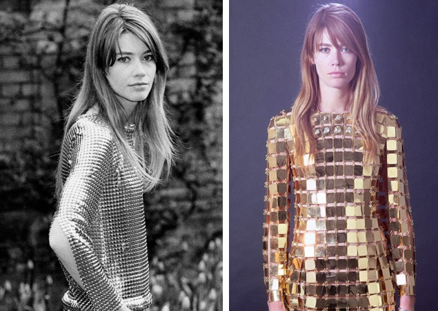 Les tenues étonnantes de Françoise Hardy Francoise-hardy-Metallic-2