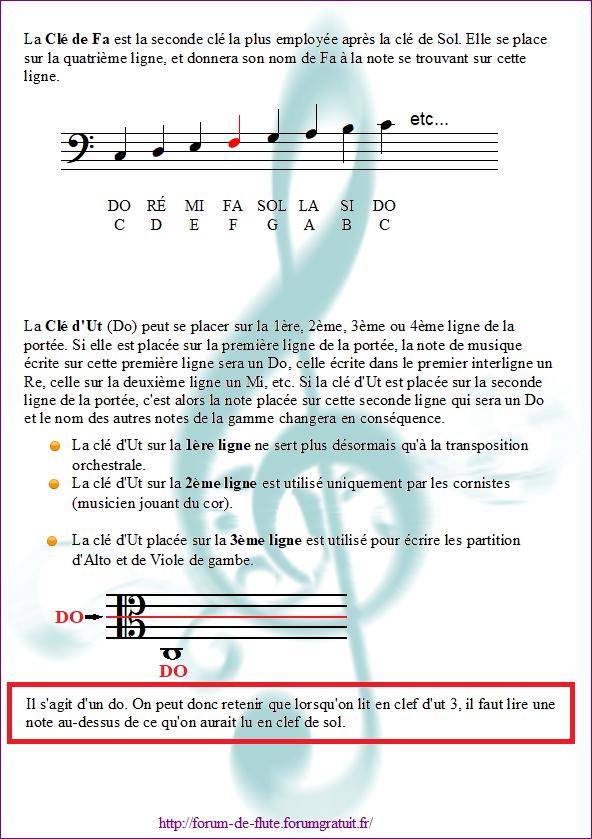 1) LA PORTÉE & LES CLÉS Cles2