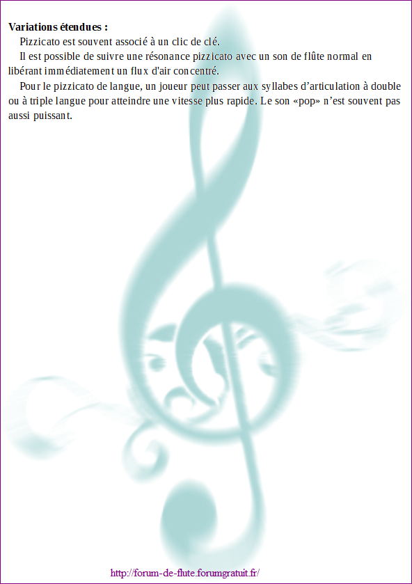 5) PIZZICATO / SLAP TONGUE (Pizzicato / Langue qui claque) Pizzicato2