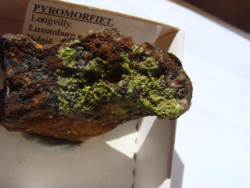 Pyromorphite de Longvilly et mine de plomb DSC03500