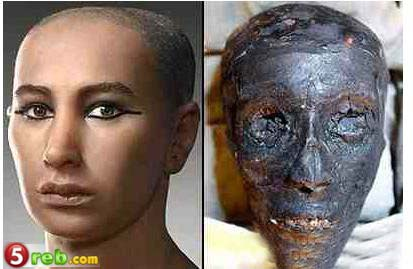 صورة جثة فرعون الحقيقيه بعد فحصها فى فرنسا