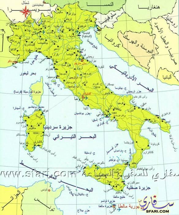 خريطة ايطاليا السياحية Italy Tourist Map شبكة و منتديات العرب