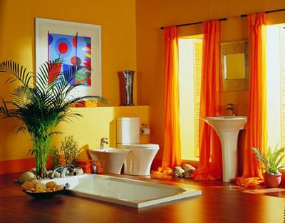 ديكورات باللون البرتقالي بدرجاته لعشاق الاختلاف وتداخله مع الالوان  492595_21247167410
