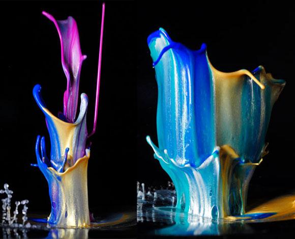 فن التصوير السريع أثناء إلقاء قطرات من الطلاء - ادخل وشووف الرووعة والجماال 495473_01272457023