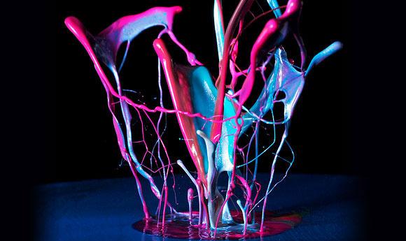 فن التصوير السريع أثناء إلقاء قطرات من الطلاء - ادخل وشووف الرووعة والجماال 495473_01272467466