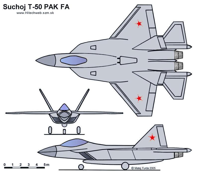 Fotografije Su 27SM aviona - Page 2 4061_T-50-3view