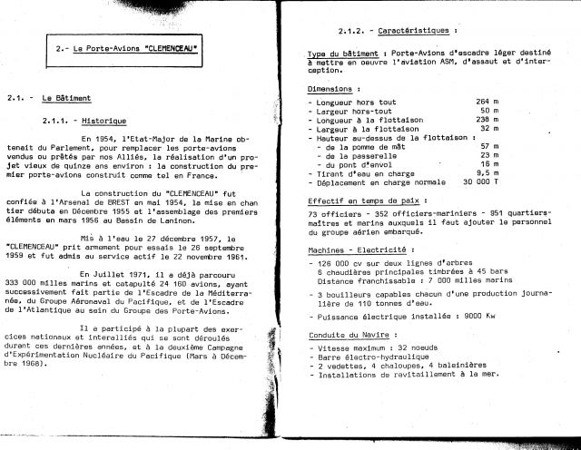 Le porte-avions CLEMENCEAU 03.238