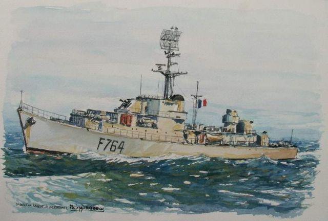 Les escorteurs rapides peints par philippe Brobeck peintre  20.21