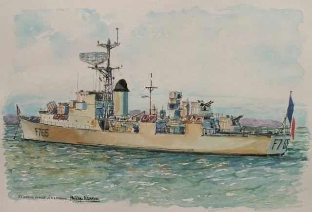Les escorteurs rapides peints par philippe Brobeck peintre  20.24
