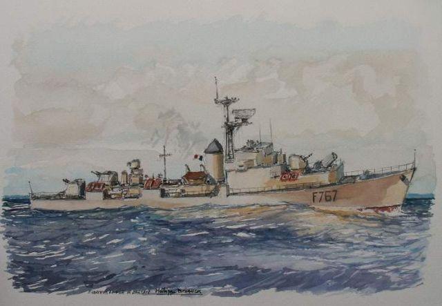 Les escorteurs rapides peints par philippe Brobeck peintre  20.30