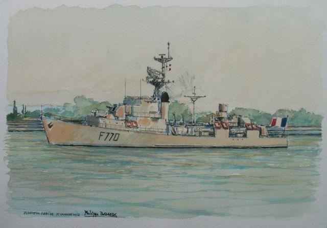 Les escorteurs rapides peints par philippe Brobeck peintre  20.35