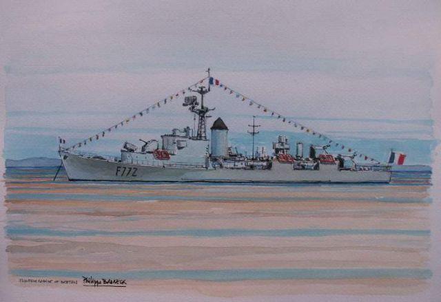 Les escorteurs rapides peints par philippe Brobeck peintre  20.37