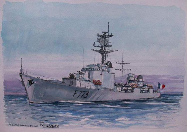 Les escorteurs rapides peints par philippe Brobeck peintre  20.39