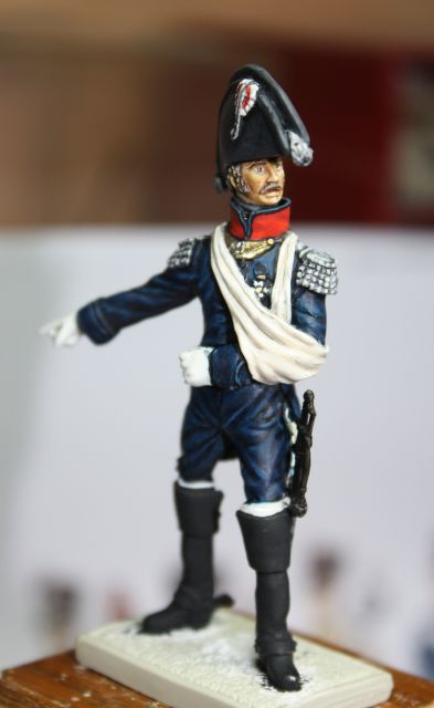 Le colonel Despans-Cubières à Hougoumont (mise en peinture) 25.286