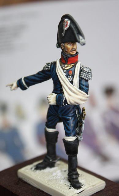 Le colonel Despans-Cubières à Hougoumont (mise en peinture) 30.268