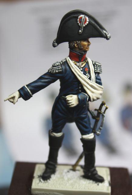 Le colonel Despans-Cubières à Hougoumont (mise en peinture) 30.273