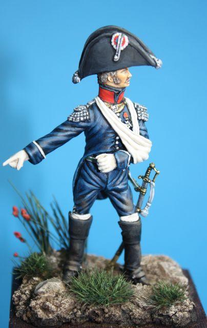 Le colonel Despans-Cubières à Hougoumont (mise en peinture) 07.353