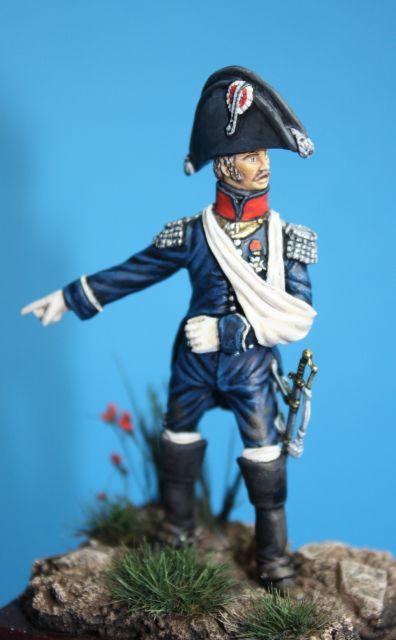 Le colonel Despans-Cubières à Hougoumont (mise en peinture) 07.355