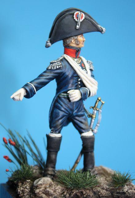 Le colonel Despans-Cubières à Hougoumont (mise en peinture) 07.357