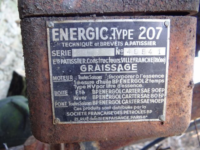 Motoculteur Energic 207 + remorque + (charue) (dans son jus) 19.123
