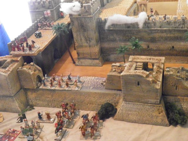 Escarmouche SAGA en terre CROISEE l'assaut de la forteresse de BELVOIR (sur les hauteur du Jourdain) 14.23