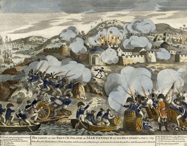 1809 Les Anglois débarquent en force à la Martinique 11.24