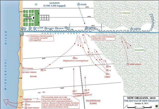 1815 le 8 janvier Bataille de la Nouvelle Orléans 16.23