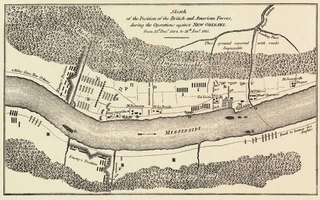 1815 le 8 janvier Bataille de la Nouvelle Orléans 16.24