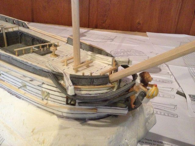 [FLIBUSTE 28MM] Un navire à partir d'un Black Pearl MegaBlock 19.2