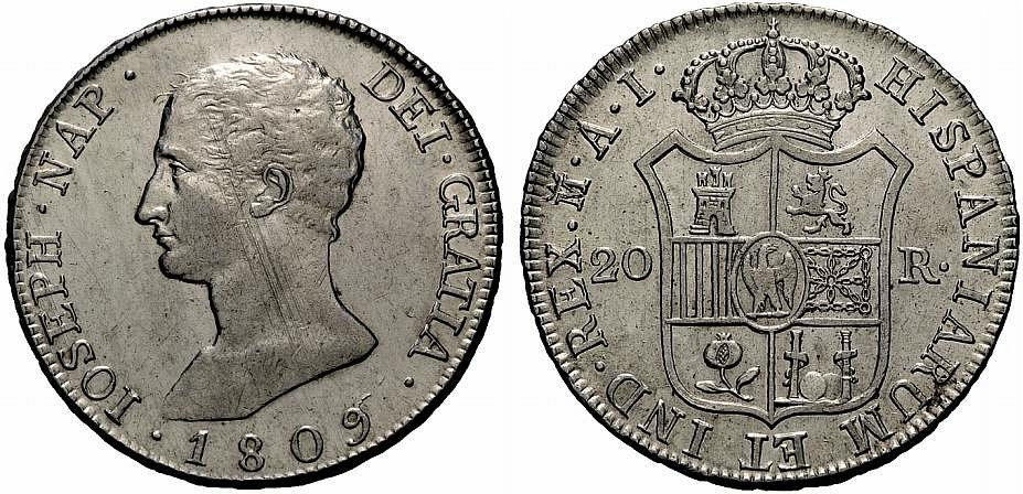 20 Reales de José Napoleón (Madrid AI, 1809) [WM n° 7198] 07419019aaf96eea9fc6031fcb9bd57eo
