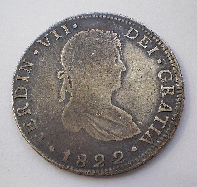 8 Reales de Fernando VII (Guanajuato JM, 1822) [WM n° 7458; WM n° 7459; WM n° 7493] 1613ee8ccde8fd904720477070950650o