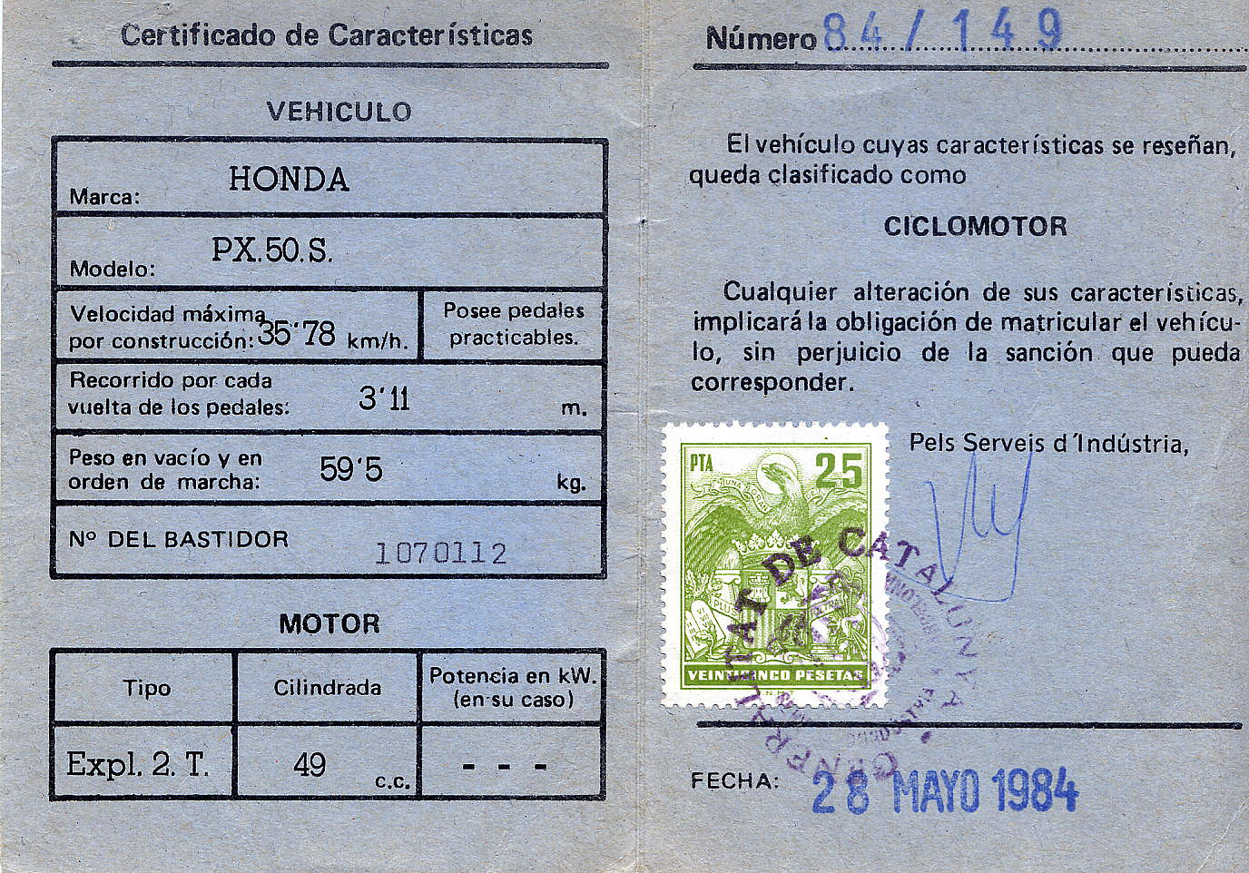 HONDA -  Mi Honda PX '84 - Página 2 1e0c1a6c04dace22d0a1c6d835ea3c2fo