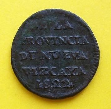 Octavo de real Durango 1822 Fernando VII 2becd5be7da2448a70dad882bcc0b0aeo