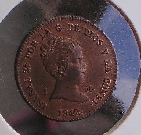 1 Maravedí de Isabel II (Jubia, 1842) [WM n° 7193] 31e41e9b5b5fec8392c066d97596e36eo