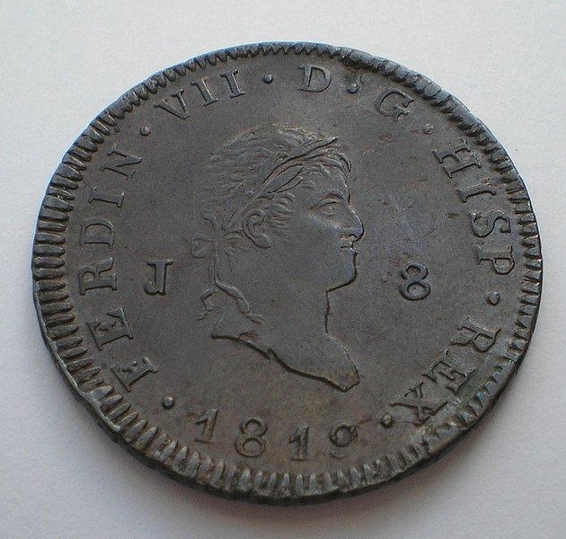 8 Maravedis 1819. Fernando VII. Jubia. 52c8996306fe753610974585cc12eafbo