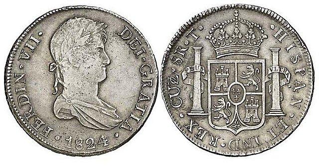 8 Reales de Fernando VII (Cuzco, 1824 T) [WM n° 8179] 5b46e9d37ed6f0852f835442214f7946o