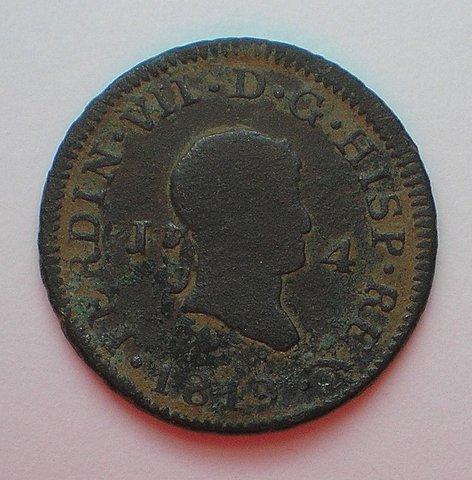 4 Maravedís de Fernando VII (Jubia 1819) [WM nº 8925] 5c3b6f6ed817e32c5dcadf17a109f092o