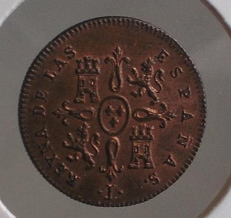1 Maravedí de Isabel II (Jubia, 1842) [WM n° 7193] 67d53d2cf5352fccb324c17be5205b4eo