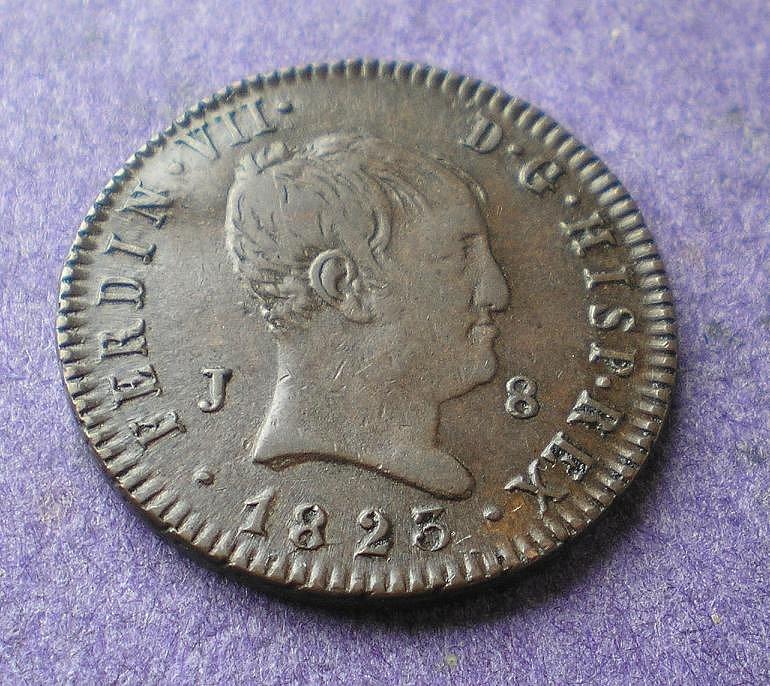8 Maravedís de Fernando VII (Jubia, 1823) [WM n° 7194] 7c964d07ea757037ea7520b59c028b49o