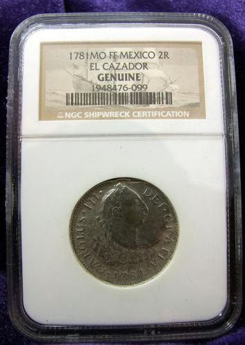 "2 Reales de Carlos III (México, 1781) Procedente del pecio ""El Cazador"" 8110000a4e316b9dfcbcb50e894cacd8o"