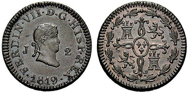 2 Maravedís de Fernando VII (Jubia/Xuvia, 1819) Sin circular [WM n° 7557] 881797681051551967a1c5d0e6795398o