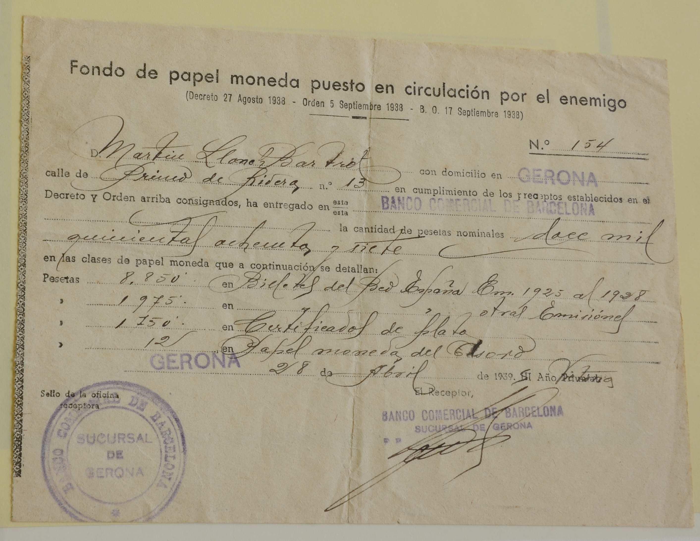"""Documentos del Banco de España y """"Fondo de papel moneda"""" 98fcd17844be7a6248f82853ce42ca1eo"""