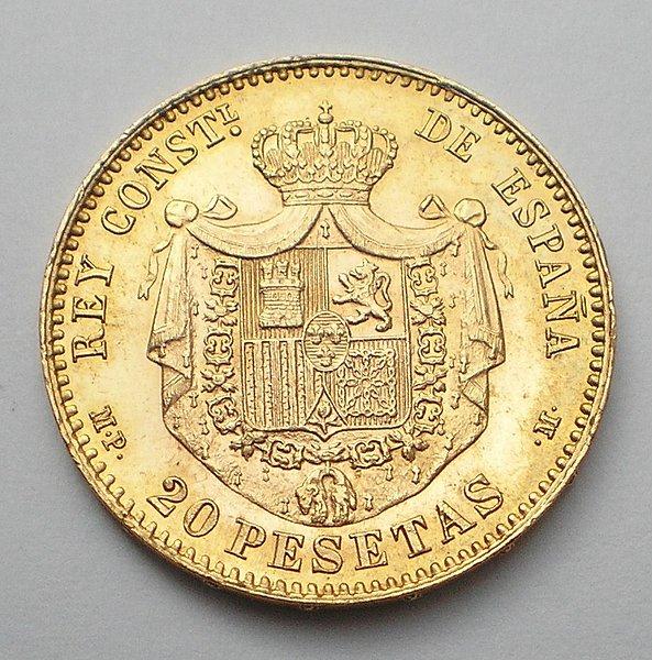 20 Pesetas Alfonso XIII 18*90 SC 9a97002d50db6fe49c9e6c6c15bd5c45o