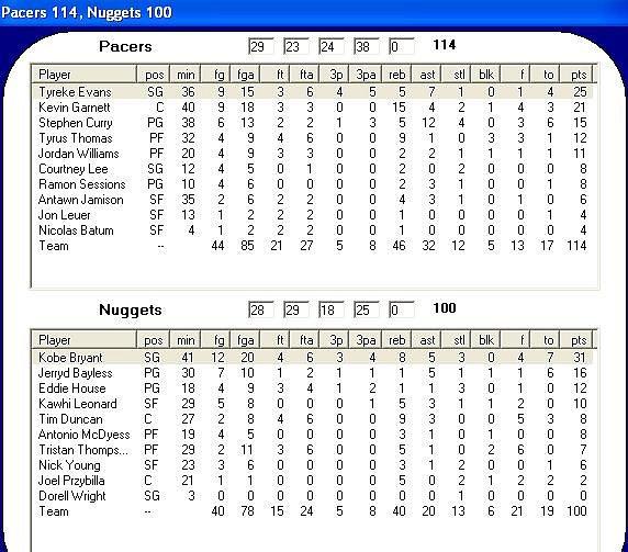 Martes 30; Indiana Pacers - Denver Nuggets B1a15eb409302feb7b41e7891522ab0do