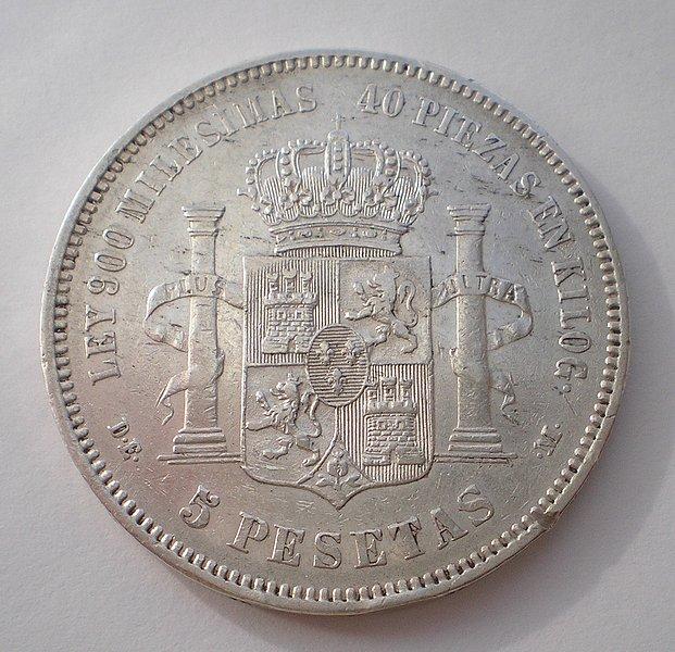 5 Pesetas de Alfonso XII (1875 18*75) [WM n° 8193] B4137bc3beeab3698dbec3258491c503o